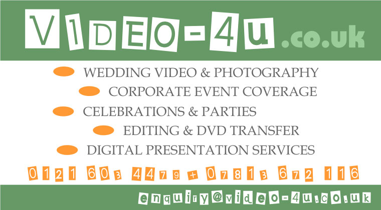 Wedding Video Photography Corporate Event Coverage Birmingham Solihull UK
